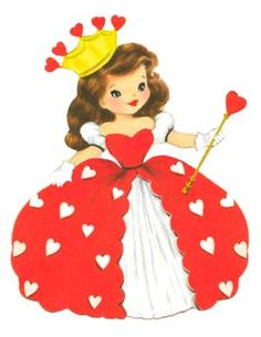 Queen of Hearts vintage card* 1500 free paper dolls at Arielle Gabriel's The International Paper Doll Society and also free China and Japan paper dolls at The China Adventures of Arielle Gabriel *