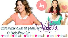 Como hacer cuello de perlas de Violetta o cuello Peter Pan / Violetta T-...