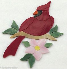 Cardinal stained glass precut kit. Great for your mosaic inlay projects. Selling on eBay or contact me directly rachellkratzer@aol.com