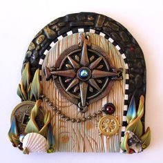 The wonders of a fairy house door and other enchanted doors in polymer clay | Linda's Art Spot