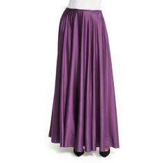 The Row Ladia Mid-Rise Full Skirt (66.175 RUB) ❤ liked on Polyvore featuring skirts, grape, long straight skirts, purple skirt, ankle length skirts, purple pleated skirt and long purple skirt