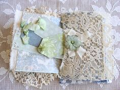 Mixed Media Quilted Fabric Art Book Handmade Fabric by ShabbySoul
