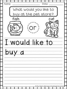 Introduce your beginning writers to the idea of opinion writing with this fun set of printables. Page by page you'll build the foundation that your students will need later on to write opinion pieces with supporting details. *Features pages with and witho 1st Grade Writing, Work On Writing, Sentence Writing, Opinion Writing, Persuasive Writing, Kindergarten Writing, Writing Workshop, Kids Writing, Teaching Writing