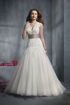 Alfred Angelo Wedding Dress, $1,049, available at Alfred Angelo.