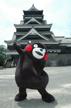 9-22-2014 Kumamon is popular around Japan and aspires to world domination. He is the kind of bear you can share some Honey and Beer with at the local forest tavern. He is from Kyushu, and was created to draw tourists to Kumamoto Prefecture with the opening of the Kyushu Shinkansen in 2011. Did you know that Kumamon is a public employee working for the Kyushu prefecture government? This explains why he has so much time to goof off in an out of Japan.