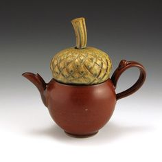 teapot acorn pot  <<< another favorite here.  Love the simplicity which makes it more believable