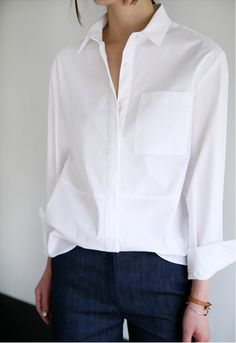 Simple and classic white shirt best casual outfits, boho summer outfits, dress casual, Fashion Mode, Work Fashion, Womens Fashion, Fashion Ideas, Style Fashion, Trendy Fashion, Dress Fashion, Fashion Spring, Fashion Outfits