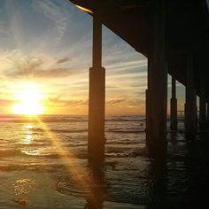 Ocean Beach, San Diego, CA #sunset #pier  Photo by kowalibear #photography