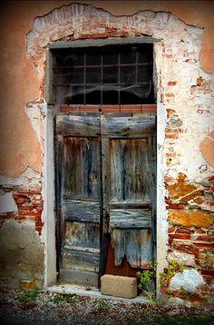 Nature takes over.in Pisa, Italy. Cool Doors, Unique Doors, Old Windows, Windows And Doors, Entrance Doors, Doorway, Mode Poster, Door Knobs And Knockers, Vintage Doors