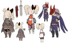 Costumes Designs from Bravely Default
