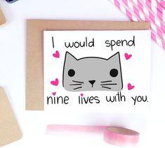 Funny Valentine Card Boyfriend Gift Card for by LailaMeDesigns #boyfriendgifts