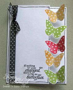 Butterfly Edge TLC318 by sweetnsassystamps - Cards and Paper Crafts at Splitcoaststampers