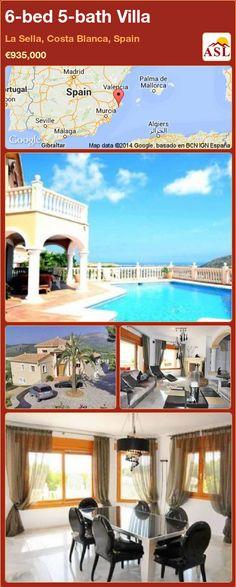 6-bed 5-bath Villa in La Sella, Costa Blanca, Spain ►€935,000 #PropertyForSaleInSpain