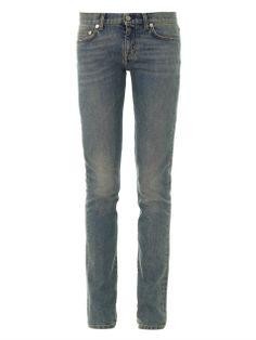 Faded mid-rise skinny jeans | Saint Laurent | MATCHESFASHION.COM