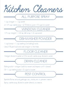 DIY kitchen cleaners, all natural ingredients, and no toxins - rockin!
