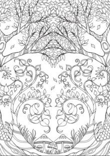 Forest Coloring Book | AdultcoloringbookZ Enchanted Forest Book, Enchanted Forest Coloring Book, Magical Forest, Adult Coloring, Coloring Books, Forest Coloring Pages, Different Seasons, Woodland Creatures, Fantasy Landscape