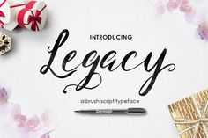Legacy Brush Script by SiwoxS on Creative Market