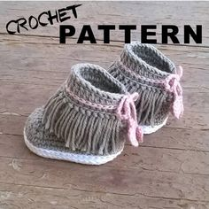 Crochet PATTERN. Dakota baby sneakers. Instant от ShowroomCrochet