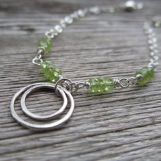 orbit bracelet - peridot at Amy Friend Jewelry #AmyFriendMayGiveaway