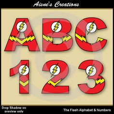 The Flash Justice League Alphabet Letters & by AisnesCreations