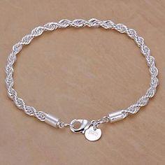Verzilverd Koper Chain Bracelet - EUR € 1.39