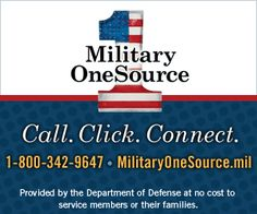 1-800-342-9647 www.militaryonesource.mil Military OneSource is a Department of Defense-funded program providing comprehensive information on every aspect of military life at no cost to active duty, Guard, and reserve service members, and their families.  Information includes, but is not limited to, deployment, reunion, relationship, grief, spouse employment, and education, parenting and child care, and much more.