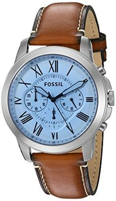 Fossil Mens Grant Chronograph Light Brown Leather Watch >>> Check out this great product. Fossil Watches For Men, Best Watches For Men, Luxury Watches For Men, Cool Watches, Men's Watches, Mens Watch Brands, Beautiful Watches, Watch Sale, Men Watches
