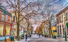 Trondheim, Noruega, Calle, Cielo