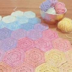 Gradient Hexies by Poppy & Bliss