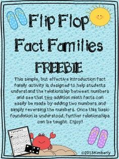 Flip Flop Fact Families (FREEBIE)