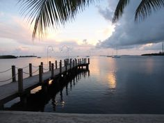Sunrise from our Private Pier #keywest Marriott Beachside