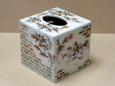 MDF Box with Decoupage and Stencil Relief
