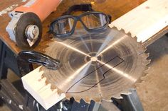 I'd like to preface this project with a couple notes:  If you're looking to make a high quality knife, don't use a table saw blade; they're a little too thin, and more of a utility steel than a hi...