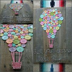 Cuadros con elementos reciclados, Taller de arte y diseño.