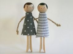 Design Inspirations - Clothes Pin Dolls
