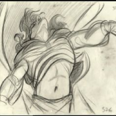 Glen Keane fron Beauty and the Beast   Glen Keane referenced Michelangelo's Dying Slave sculpture for the Beast's transformation into the Prince!