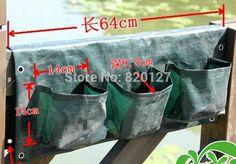 1 peça 6 bolso parede plantador de crescer, Vertical de plantio de jardinagem, Pendurado plantas de alishoppbrasil