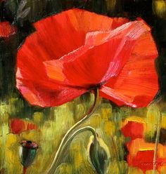 """Poppy Painting III"" Tuscan Poppies: The Chelsea Collection at Graham Fine Art 
