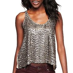 My favorite top I've bought in years! $13, yall. Decree® Sequin Tank - jcpenney