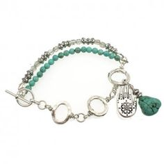 Tibetan Style Bracelet Kit with Semi-Precious Turquoise Beads