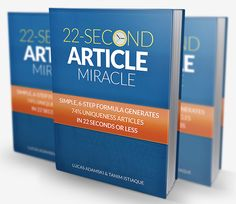 ARTICLE SPINNING IS DEAD! 6-Step Miracle System Creates Articles In 22 Seconds That Google LOVES!  Introducing a New, Simple 6-Step Article Miracle System That Instantly Generates 74% Uniqueness Articles In Just 21.60 Seconds!   FREE DOWNLOAD Link! >> http://makemoneyonlinearsenal.com/materials/article-spinning-is-dead-6-step-miracle-system-creates-articles-in-22-seconds-that-google-loves/
