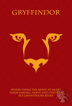 The Houses Of Hogwarts Gryffindor Minimalist Harry Potter Poster