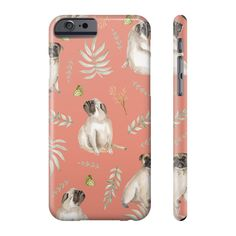 Our leafy pug design is a unique watercolor pattern featuring an adorable pug, butterflies and tropical leafs. Not only will this case provide your phone with s Pug Accessories, Watercolor Pattern, Iphone Phone Cases, Pugs, Samsung, I Phone Cases, Pug, Pug Dogs, Watercolor Paintings