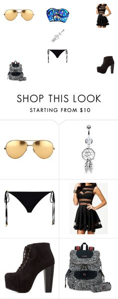 """""""Untitled #85"""" by jayy-bear-83 on Polyvore featuring Linda Farrow, Bling Jewelry, ELIZABETH HURLEY beach, Charlotte Russe and Sakroots"""