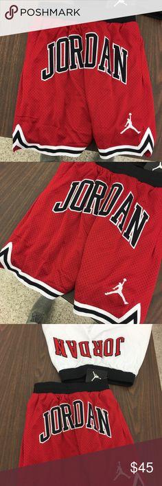 ad9a619bddbd1 Air Jordan Boys Red Black Chicago Bulls Shorts ITEM  Air Jordan Boys  Basketball Shorts CONDITION
