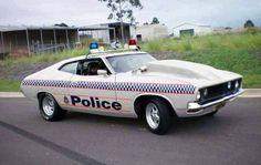 Australian police car XB Falcon Couple Police Car - My list of the best classic cars Australian Muscle Cars, Aussie Muscle Cars, Ford Classic Cars, Best Classic Cars, Custom Classic Cars, Emergency Vehicles, Police Vehicles, Old Police Cars, Ford Torino