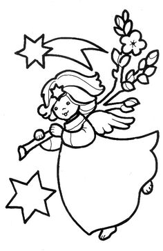 best christmas angels coloring pages