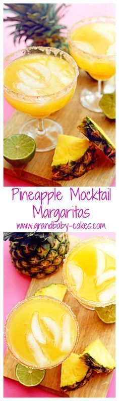 Delightfully addictive mocktail margaritas made with refreshing pineapple flavor and a kick of cinnamon | Grandbaby Cakes ~ http://www.grandbaby-cakes.com