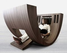 Unusual Chair Designs | Unique minimalist wooden lounge chair design Important Points to ...