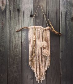 Hey, I found this really awesome Etsy listing at https://www.etsy.com/au/listing/259659979/boho-yarn-wall-hanging-home-decor-tassel